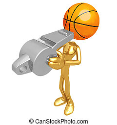 Basketball Whistle - 3D Concept And Presentation Figure