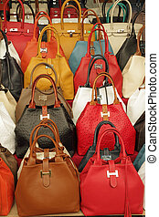 colorful elegant leather hand bags collection on Mercato di...