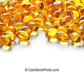 Omega 3 fish oil gel capsules