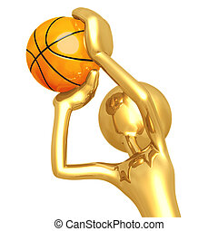 Basketball Free Throw - 3D Concept And Presentation Figure