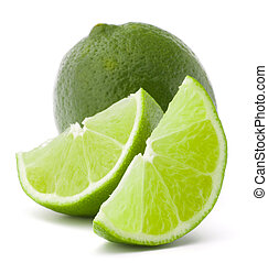 Citrus lime fruit isolated on white background cutout -...
