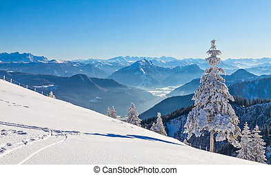 Winter landscape on a beautiful cold and crisp day in the...