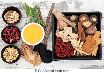 Chinese Herbal Ingredients - Traditional chinese herbal...