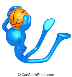 Basketball Slam - 3D Concept And Presentation Figure