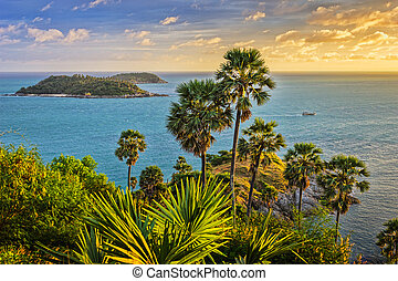 Cape is a mountain of rock in Phuket, Thailand - Cape is a...
