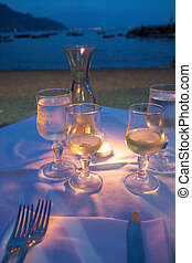 Romantic dinner - Romantic table for an outdoor dinner