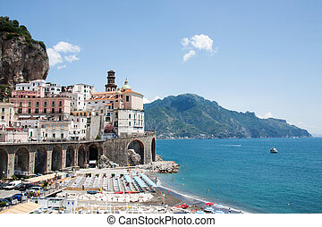 Atrani, Costiera Amalfitana, Italy - Panoramic view of...
