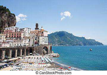 Atrani, Costiera Amalfitana, Italy - Panoramic view of...