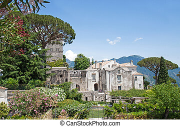 Villa Rufolo in Ravello, Amalfi Coast, Italy - Panoramic...