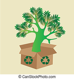 save the tree - a green tree with some leafs coming out from...