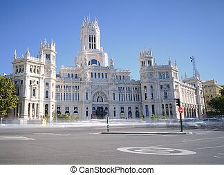 Cibeles Palace - View of Cibeles Palace in Madrid, Spain