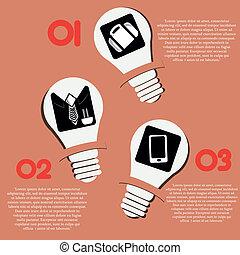lightbulb infographic
