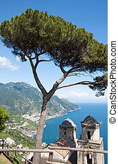 Ravello, Amalfi Coast, Italy - Panoramic view from Ravello,...