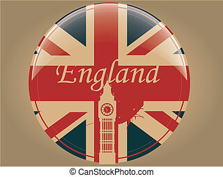 circle of england - the england flag within a circle with...