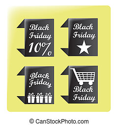 black friday's advices - four different black advices with...