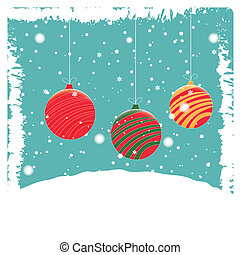 three christmas balls