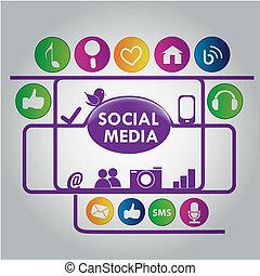 purple social media