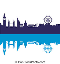 blue london - some blue silhouettes of the buildings from...