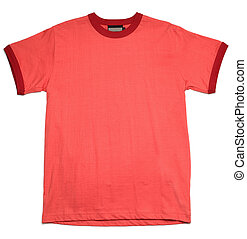 T-Shirt - Red T-shirt, isolated on white