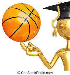 Basketball Scholarship - 3D Concept And Presentation Figure