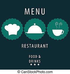 blue menu design
