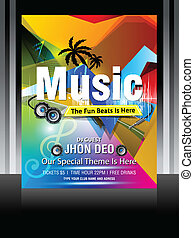 Colorful Music Flayer Design vector