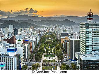Sapporo Cityscape - Cityscape of Sapporo, Japan at odori...