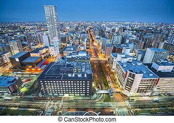 Sapporo Cityscape - Cityscape of Sapporo, Japan.