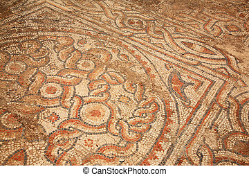 Mosiac tiles on the floor Ephesus - Mosiac tiles on the...