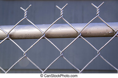 Backyard Re-Painted Metal Chain Link Fence Top Post Wire -...