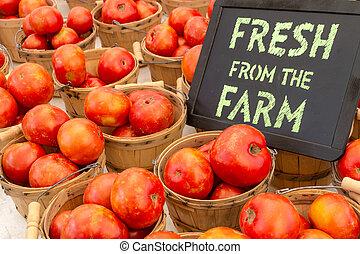 Farmers Market - Fresh from the Farm chalk board sign...