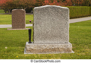Two Grave Headstones - Two granite headstones that are blank...