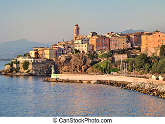 Bastia Corsica - Houses and buildings in the city of Bastia...