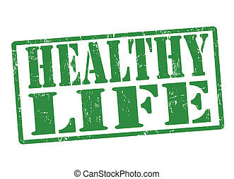 Healthy life stamp