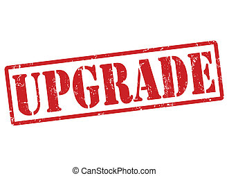 Upgrade stamp - Upgrade grunge rubber stamp on white, vector...