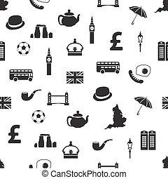 england seamless pattern
