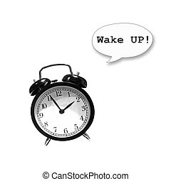 Alarm clock (with pop up text wake up!)