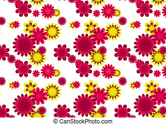 Seamles flower pattern - Vector image