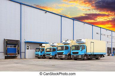 倉庫, 停靠方式, 運輸, 卡車