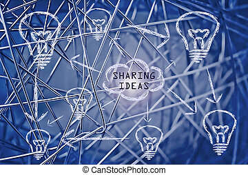 internet concept: sharing and connecting ideas - conceptual...