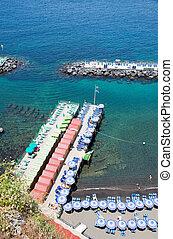 Sorrento, Amalfi Coas, Italy - Sorrentos beach view, Amalfi...