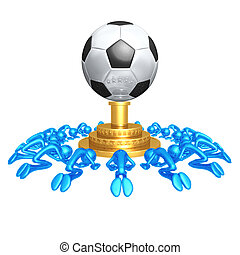 Soccer Football Worship - 3D Concept And Presentation Figure