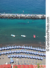 Sorrento, Amalfi Coast, Italy - Sorrentos beach view, Amalfi...
