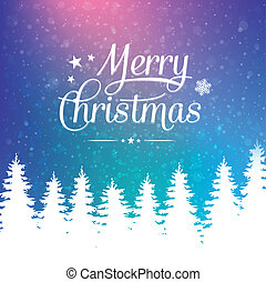 merry christmas winter snowy background