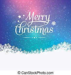 merry christmas colorful winter snowy background