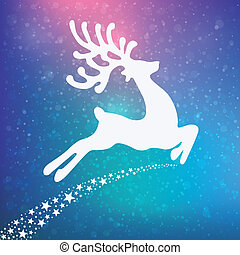 reindeer colorful winter background