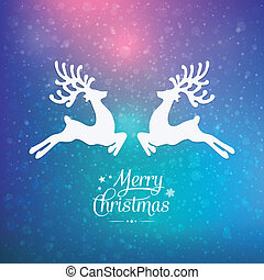 merry christmas reindeer colorful winter background