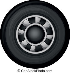A wheel - Illustration of a wheel on a white background