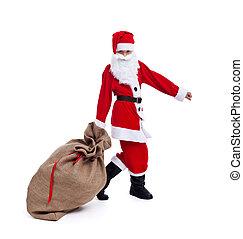 Santa bringing you Christmas presents