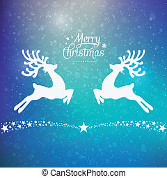 stars reindeer winter background